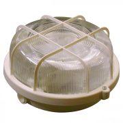 Müller Licht Basic Round 1xE27 IP44 fehér hajólámpa, műanyag védővel, 20300031