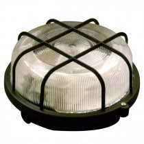 Müller Licht Basic Round 1xE27 IP44 fekete hajólámpa, műanyag védővel, 20300035