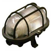 Müller Licht Basic Oval 1xE27 IP44 fekete hajólámpa, műanyag védővel, 20300023