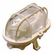 Müller Licht Basic Oval 1xE27 IP44 fehér hajólámpa, műanyag védővel, 20300022