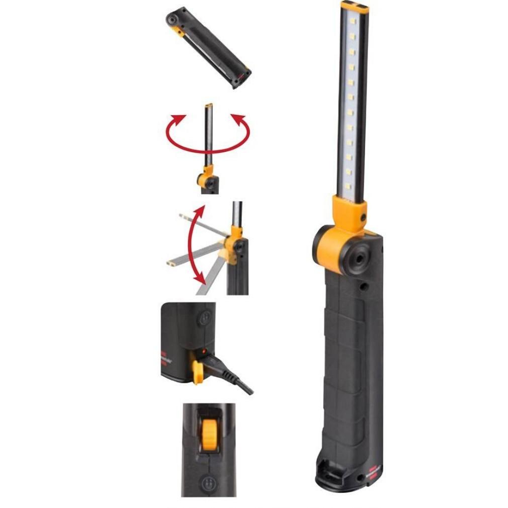 Brennenstuhl 1177370 akkumulátoros LED lámpa, 12+1 LED 400/70lm 6000K, Micro USB tölthető
