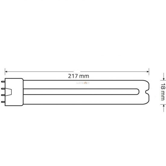 OSRAM Dulux L BLUE 18W/71 2G11 UVA 400…550nm