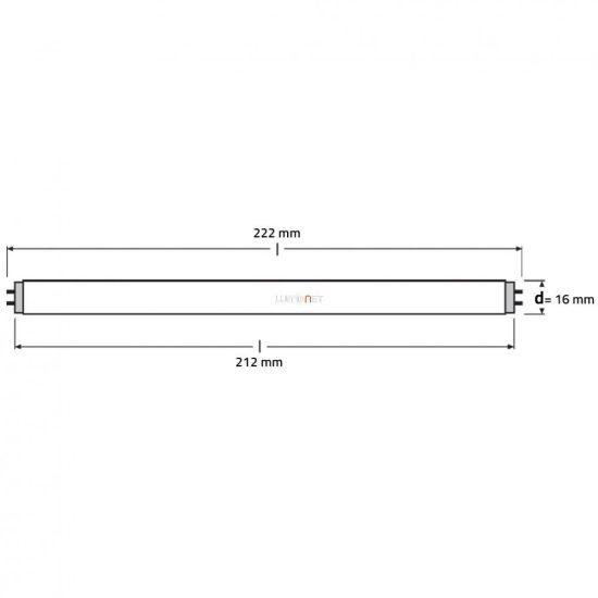 Osram HNS T5 6W G5 ózon mentes germicid fénycső 212mm
