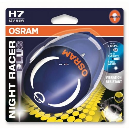 Osram NIGHT RACER PLUS H7 64210NRP 55W izzó bliszter
