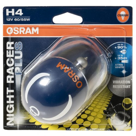 Osram NIGHT RACER PLUS H4 64193NRP 60/55W izzó bliszter
