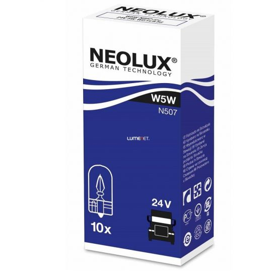 Neolux N507 W5W 24V műszerfal izzó