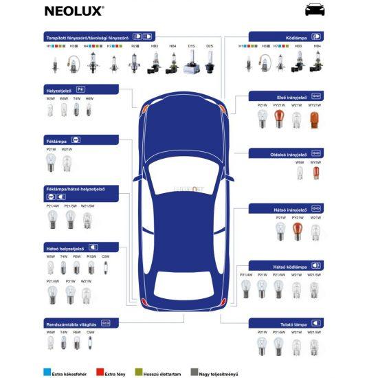 NEOLUX N286 STANDARD 1,2W 12V W2x4.6d dobozos 10db/csomag