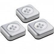 Müller Licht 3xTouchlight LED lámpa 0,6W 6lm (3x3xAAA elemekkel) ezüst 400136