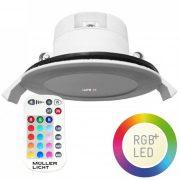 Müller Licht 400385 2700K +RGB LED spot 7W 430lm IP44 + távszabályzó