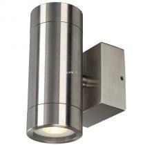SLV 233302 ASTINA STEEL kültéri fali lámpa 2xGU10 max.35W