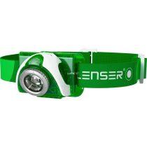 Led Lenser SEO3_6103TIB zöld LED fejlámpa 3xAAA 100 lm