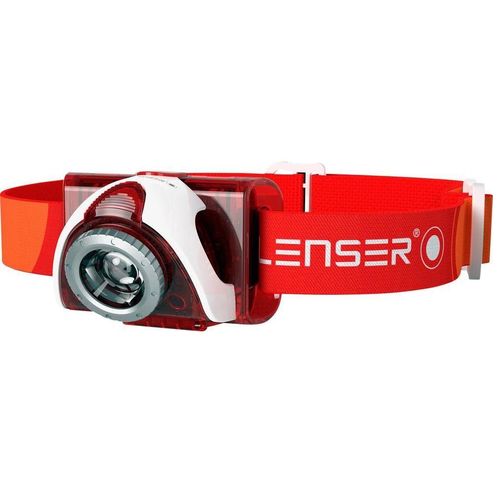 LedLenser SEO5_6106TIB piros LED fejlámpa 3xAAA 180 lm