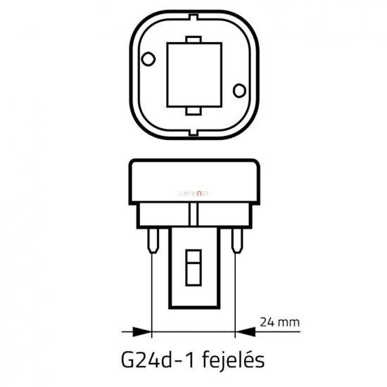 OSRAM Dulux D 10W/840 (21) G24d-1