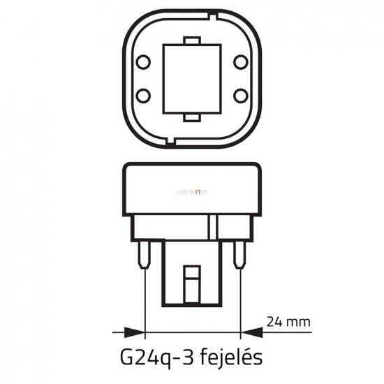 Osram Dulux D/E 26W/827 (41) G24q-3