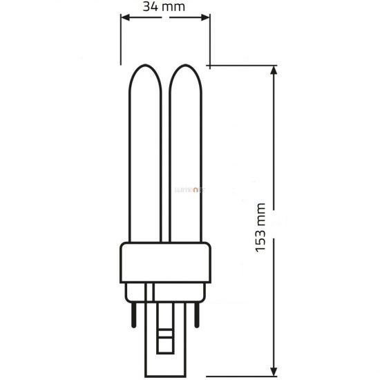 OSRAM Dulux D 18W/830 (31) G24d-2