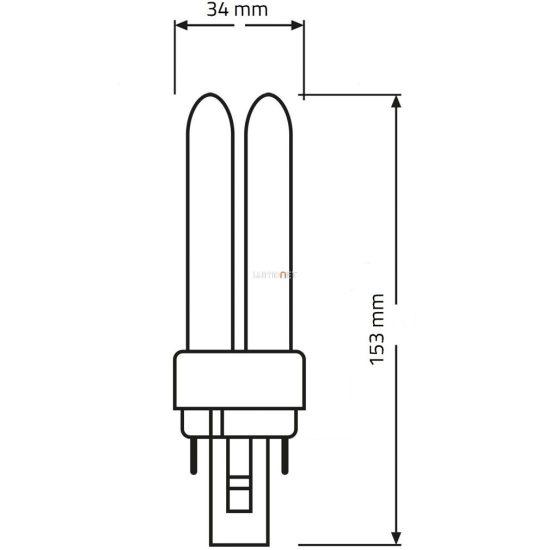 Osram Dulux D 18W/865 (11) G24d-2