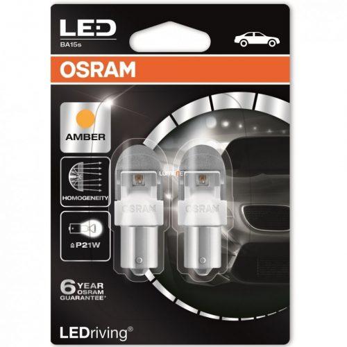 Osram LEDriving Premium 7556YE-02B BA15s Amber P21W 2db/bliszter