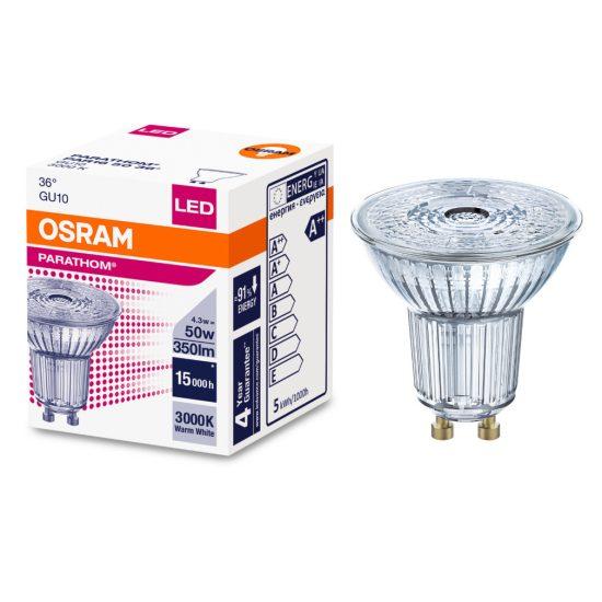 Osram Parathom PAR16 50 36° 4,3W/830 3000K GU10 LED