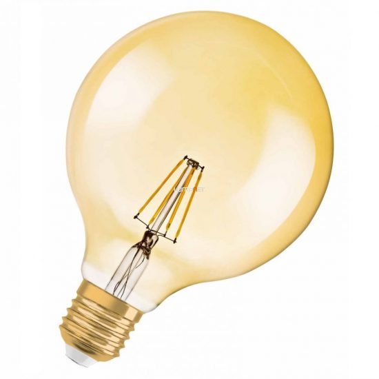 Osram Vintage 1906 Globe 35 Gold 4W 2400K E27 filament LED