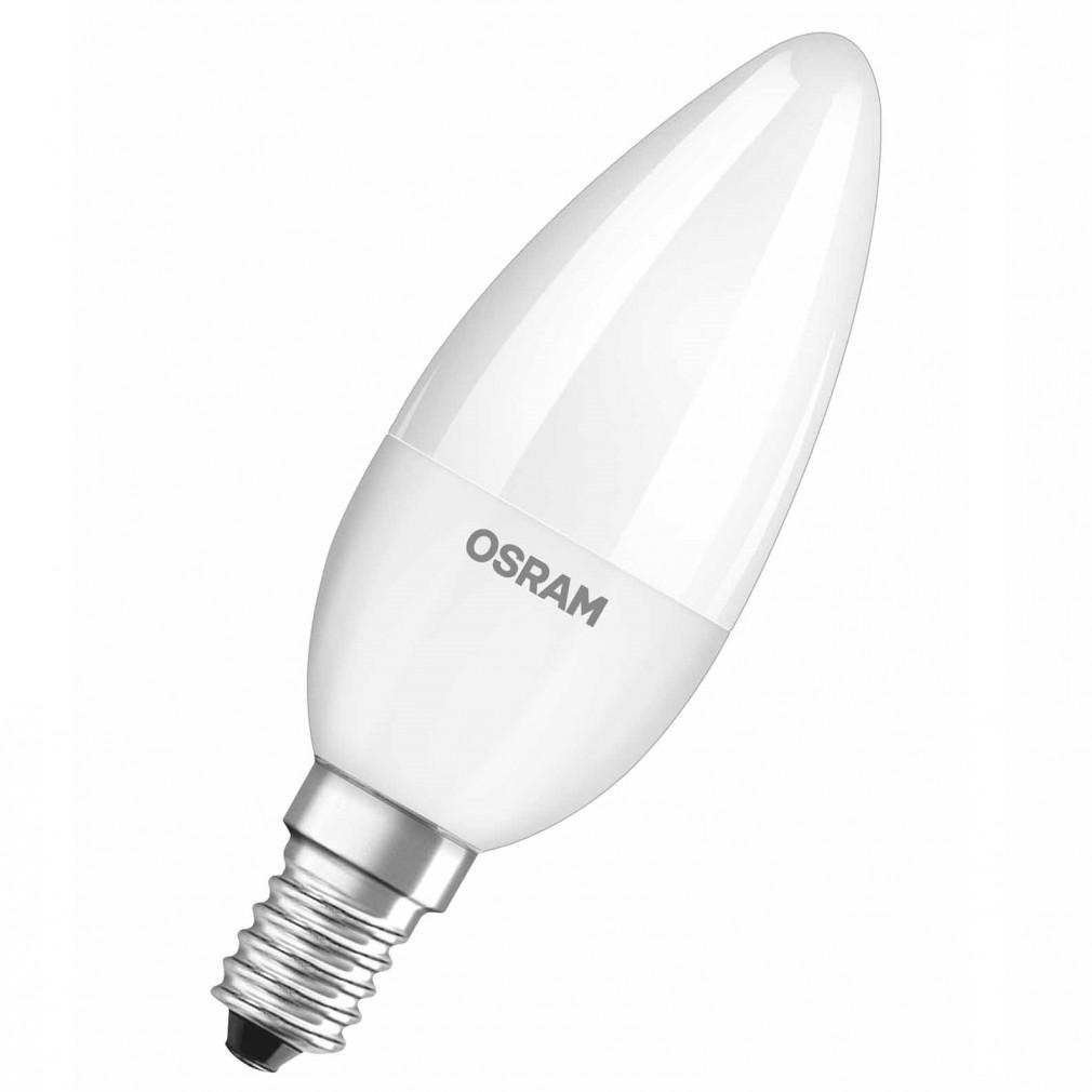Osram CL B 40 5W 4000K hideg fehér E14 470lm LED - 40W gyertya izzó kiváltására