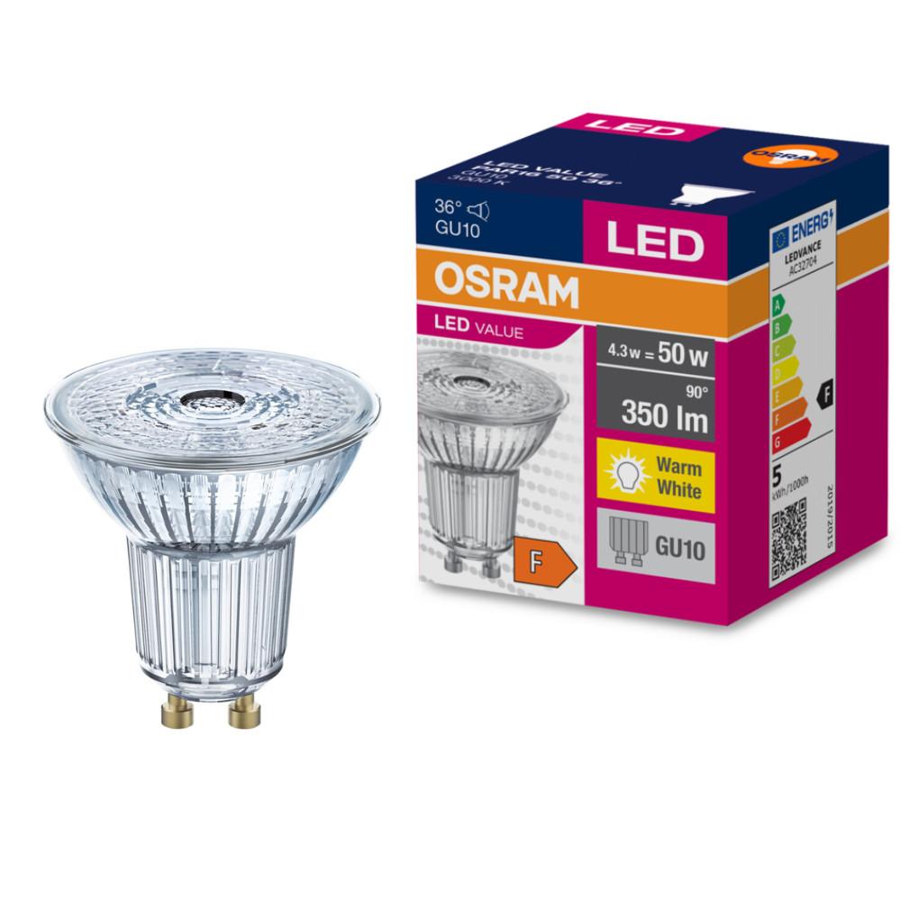 Osram Value PAR16 50 36° 3,6W/830 3000K GU10 LED 3év gar. 2018/19.