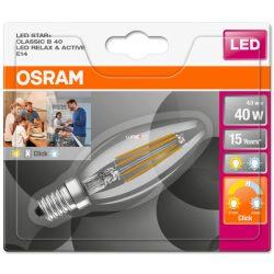 Osram Active/Relax 4W 2700K/4000K E14 kapcsolható fényszínű filament gyertya LED