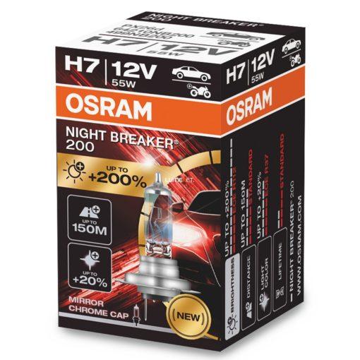 Osram Night Breaker H7 +200% dobozos 1darabos