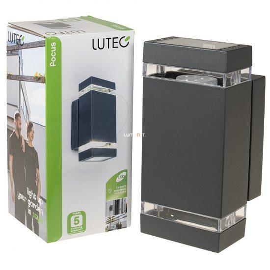 LUTEC 6050 LED GR FOCUS 7,6W LED IP44 fali le/fel világító szürke kültéri lámpa