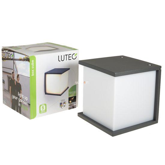 LUTEC 1846 GR BOX CUBE 1xE27 max 60W IP54 fali szürke kültéri lámpa