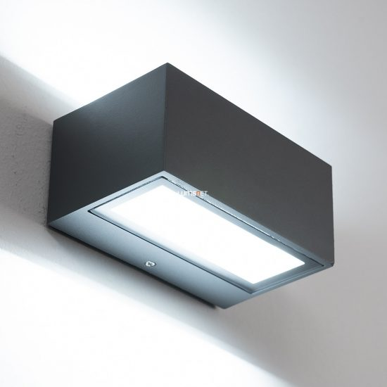Lutec 1891S GR GEMINI 9W LED IP54 fali le/fel világító szürke kültéri lámpa