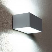 Lutec 1891S WH GEMINI 9W LED IP54 fali le/fel világító fehér kültéri lámpa
