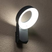 Lutec 6163S-3K GR MERIDIAN 14W LED IP54 fali szürke kültéri lámpa