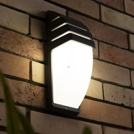 LUTEC 1836 GR ESL CITY 1xE27 max 60W IP44 fali szürke kültéri lámpa