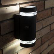 LUTEC 6040 GR FOCUS 2xGU10 max 35W IP44 fali le/fel világító szürke kültéri lámpa