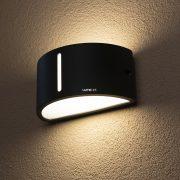 LUTEC 3304 GR BONN 1xE27 max 60W IP44 fali le/fel világító szürke kültéri lámpa
