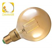 Megaman MM05382 3W E27 Dim Filament Led Clear Gold Globe