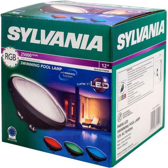 Sylvania 0060540 PAR56 LED RGB színváltós medence lámpa 12W 12V 300lm IP68 25000h 105x175mm