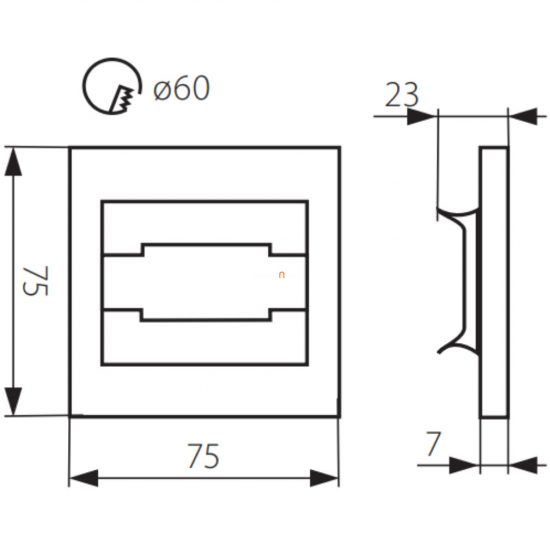 Kanlux TERRA MINI LED 0,8W 12V CW 6500K 23105