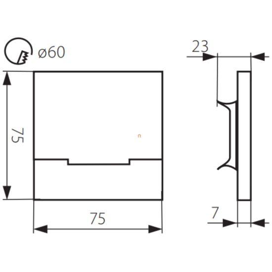 Kanlux SABIK LED 0,8W 12V CW  6500K 23110