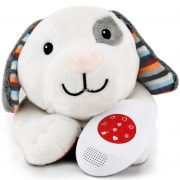 ZAZU DEX - zenélő, vígasztaló fehér plüss kutyus