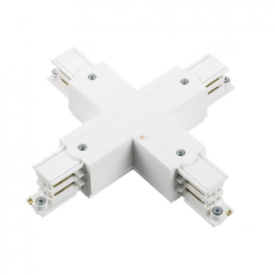 NORDIC GLOBAL TRAC XTS 38-3, 3 fázisú X alakú sínösszekötő, fehér
