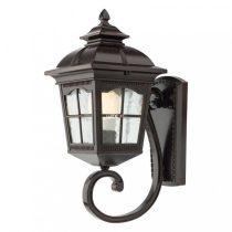 Redo 9665 YORK AP SUS IP44 MICA antik fekete festés barna fénnyel, átlátszó 1xE27 max. 100W lámpa