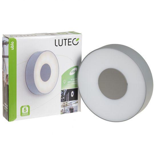 LUTEC 3481S-3K SI UBLO 6,3W LED IP54 fali és mennyezeti szürke kültéri lámpa