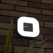 LUTEC 3501L-3K SI UBLO 11W LED IP54 fali és mennyezeti ezüst kültéri lámpa