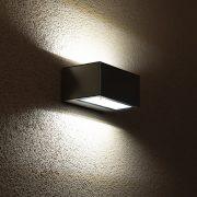 LUTEC 1891S GEMINI 9W LED IP54 fali le/fel világító szürke kültéri lámpa