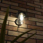 Lutec 2642 BR CATE W 1xE27 IP44 fali br kültéri lámpa, fényforrás nélkül