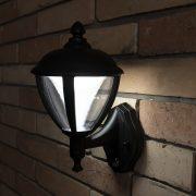 LUTEC 2601-PIR-3K BL UNITE 9W LED IP44 fali fekete kültéri lámpa