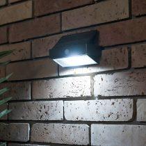 Lutec Arrow P9106 2,3W LED IP44 5000K 180lm fali IR napelemes lámpa mozgásérzékelővel