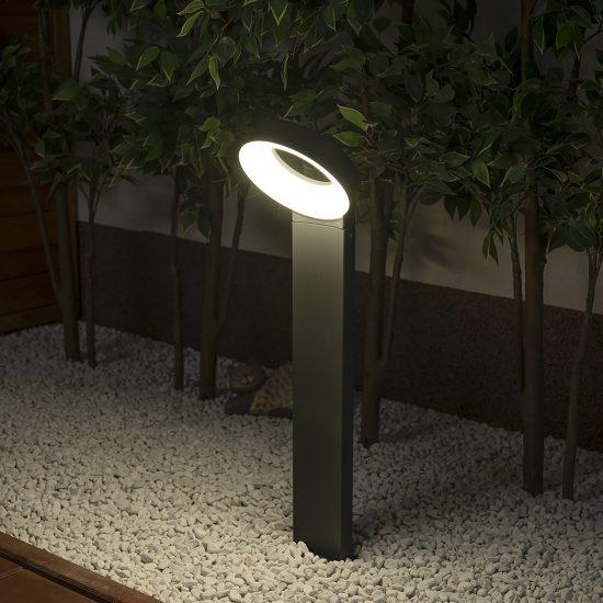 LUTEC 6164S-730-3K GR MERIDIAN 14W LED IP54 álló szürke kültéri lámpa