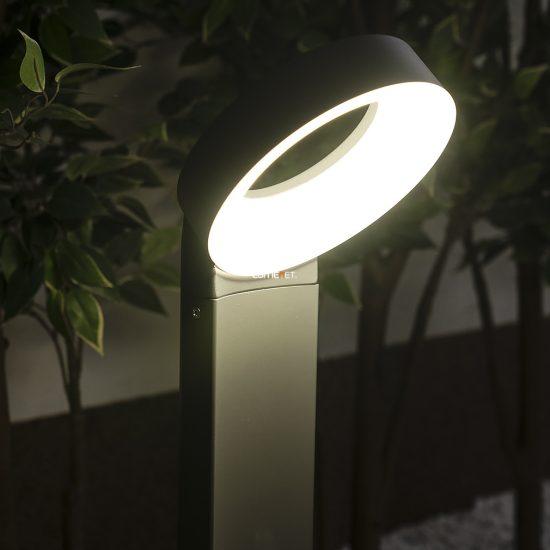 Lutec 6164S-730-3K GR Meridian kültéri LED állólámpa 14W